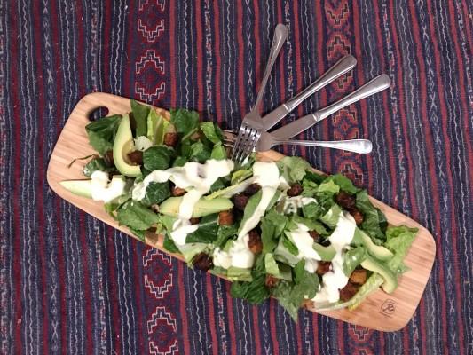 Tempeh Caesar Salad